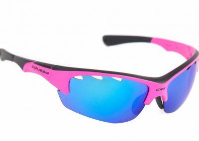 Sportbrille / Sonnenbrille – Profisport CRUSSIS, Neon Pink