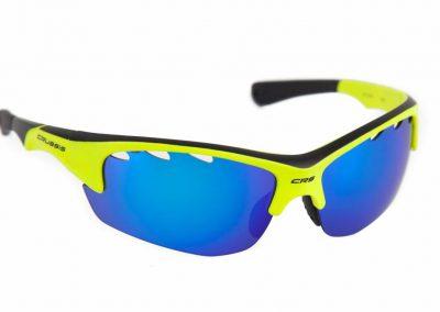 Sportbrille / Sonnenbrille – Profisport CRUSSIS, Neon Gelb
