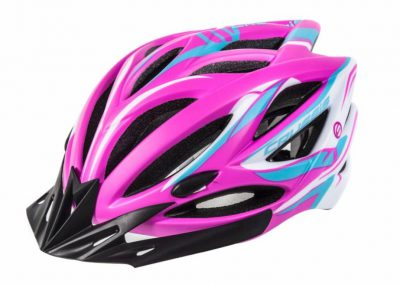 Crussis Helme, Neon-Rosa / Weiß / Blau