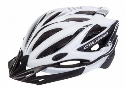 Crussis Helme, Weiß / Schwarz
