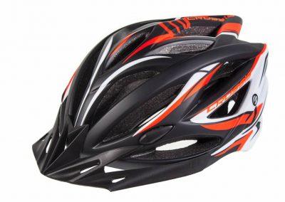 Crussis Helme, Schwarz / Orange / Weiß