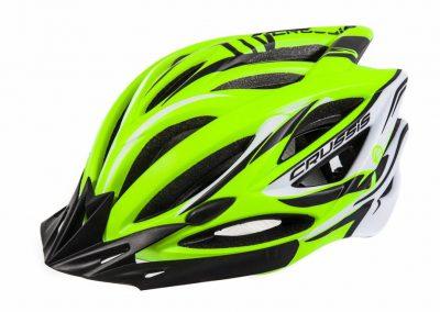 Crussis Helme, Neon-Gelb / Weiß / Schwarz